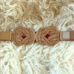 Gold studded waist belt
